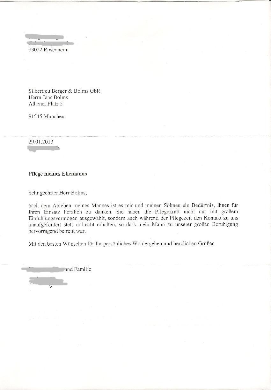24h-Pflege Referenz, Erfahrungsbericht